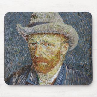 Art gris de peinture de chapeau de feutre tapis de souris