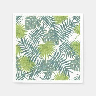 Art hawaïen vintage d'impression de palmier serviette jetable