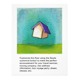 Art heureux coloré de déplacement d'amusement à la prospectus 21,6 cm x 24,94 cm