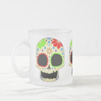 Art heureux de crâne de sucre tasses