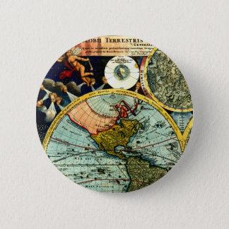 Art historique de carte de globe vintage antique badges