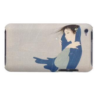 Art japonais de femme de pluie fine de Nakajima Ki Coques iPod Case-Mate