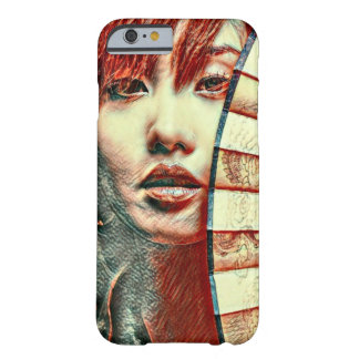 Art japonais de pastel d'huile d'imaginaire de coque iPhone 6 barely there