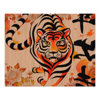 art japonais de tigre prospectus 11,4 cm x 14,2 cm