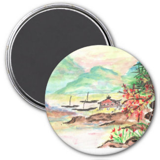 Art japonais pour votre réfrigérateur magnet rond 7,50 cm