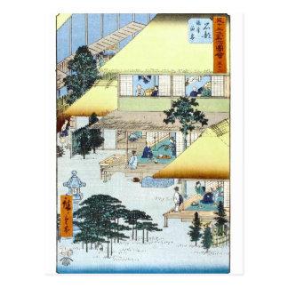 Art japonais vintage Ukiyo-e de bois de graveur Cartes Postales