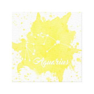 Art jaune de mur de Verseau Toile