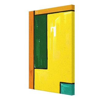 """Art """"jaune et vert"""" sur la toile"""