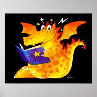 Art magique de dragon de bébé d'enfants drôles poster