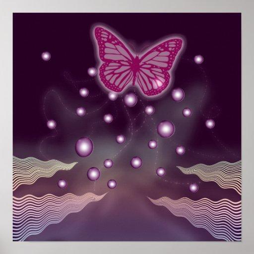 Art magique de mur des affiches | de papillon - gr