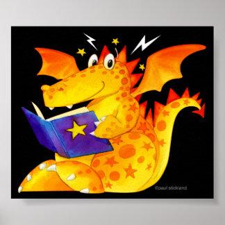 Art magique drôle de dragon du bébé de l'enfant poster