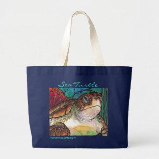Art magnifique de style en verre souillé de tortue grand sac