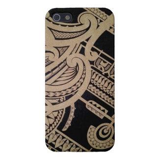 Art maori de tatouage sur le bois iPhone 5 case