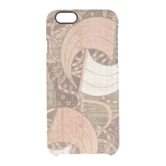 Art métallique de textile d'or vintage de rose coque iPhone 6/6S