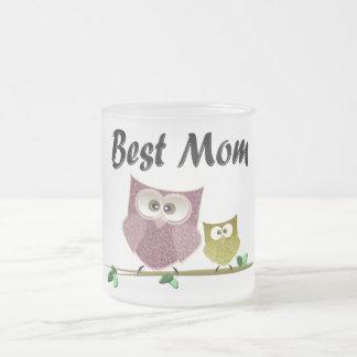 Art mignon de hiboux de la meilleure maman tasse