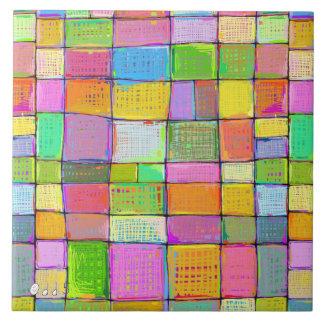 Art moderne coloré d'édredon de Digitals peignant Grand Carreau Carré