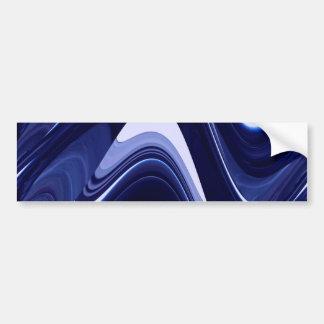 Art moderne contemporain abstrait de bleu autocollant pour voiture