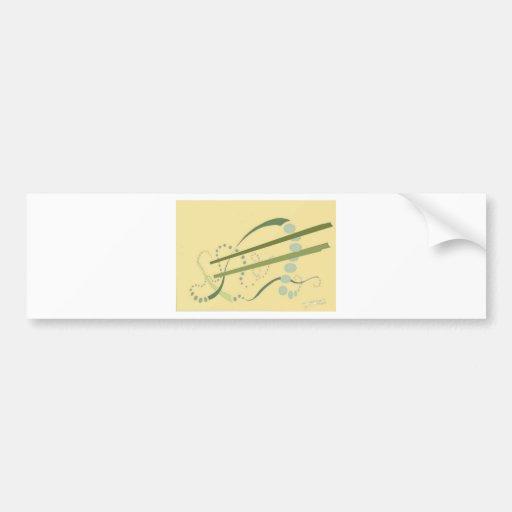 Art moderne d'abrégé sur jaune vert olive d'Abstra Autocollants Pour Voiture