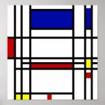 Art moderne de Mondrian Posters