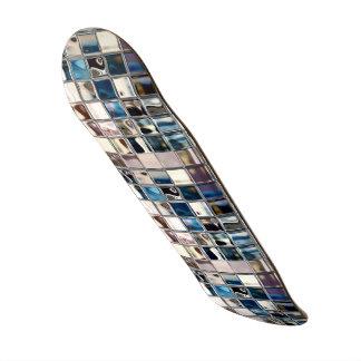 Art moderne de mosaïque de lueur de grâces plateaux de skateboards