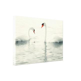 Art moderne de mur de l'eau d'oiseaux de cygne toiles