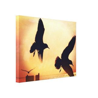 Art moderne de mur de soleil de feuille romantique toiles