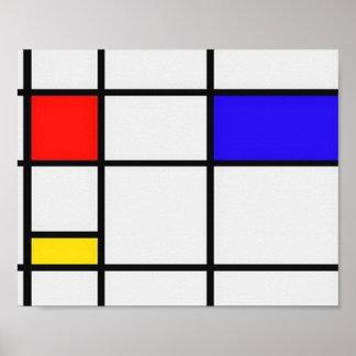 Art moderne de Piet Mondrian Poster