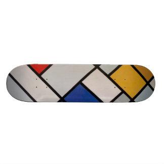 Art moderne de Piet Mondrian Skateboard Old School 21,6 Cm