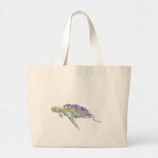 Art moderne de tortue de mer de natation grand sac