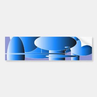 Art moderne d'ellipses bleues adhésif pour voiture