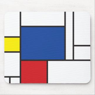 Art moderne minimaliste de Mondrian de Stijl simpl Tapis De Souris