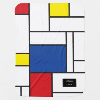 Art moderne minimaliste de Piet Mondrian de Stijl Couvertures Pour Bébé