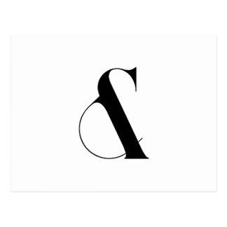 Art moderne minimaliste d'esperluète carte postale