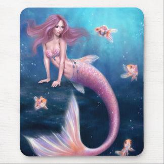 Art Mousepad de sirène de poisson rouge d'Aurelia Tapis De Souris