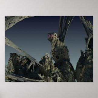 Art muet de la fractale 3D Affiches