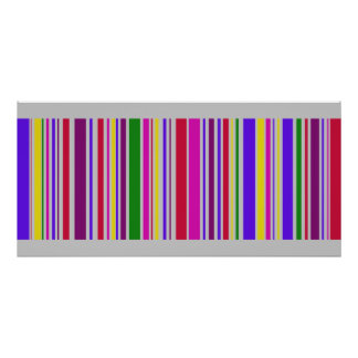 Art multi gigantesque de code barres de couleur posters