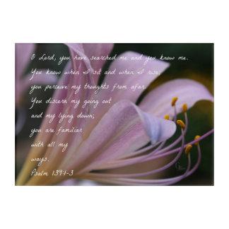 Art Mural En Acrylique 139:1 de psaume - lis de 3 lilas