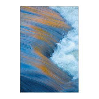 Art Mural En Acrylique Abrégé sur eau bleue, Canada