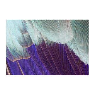 Art Mural En Acrylique Abrégé sur lilas plume de rouleau de Breasted