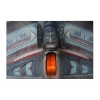 Art Mural En Acrylique Abrégé sur Polonais de totem, Alaska