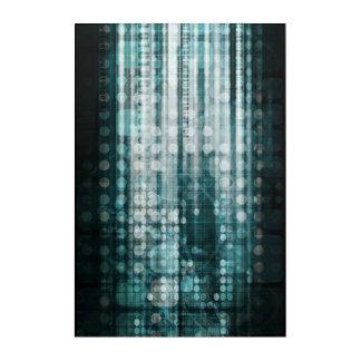 Art Mural En Acrylique Abrégé sur technologie avec le déplacement de