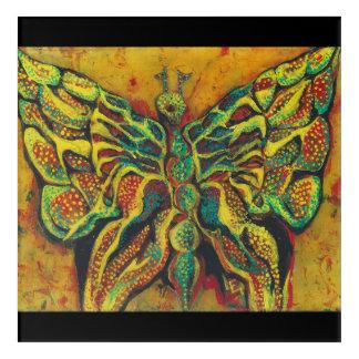 Art Mural En Acrylique Acrylique d'or Wallart de papillon