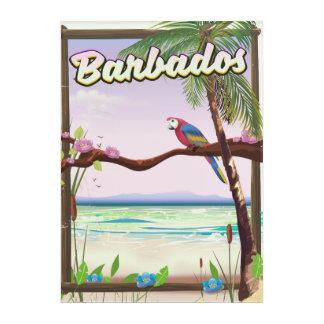 Art Mural En Acrylique Affiche de voyage de paysage de perroquet des
