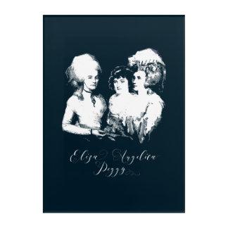 Art Mural En Acrylique Alexander Hamilton. Eliza, angélique officinale,