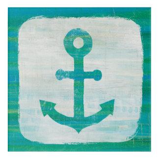 Art Mural En Acrylique Ancre côtière d'Aqua de l'art |