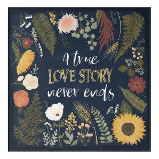 Art Mural En Acrylique Automne V Romance   que Love Story vrai ne finit