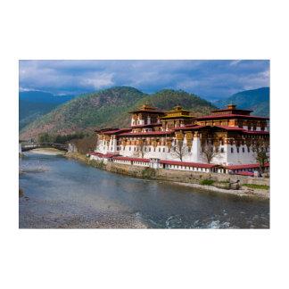 Art Mural En Acrylique Bâtiment de Dzong par la rivière