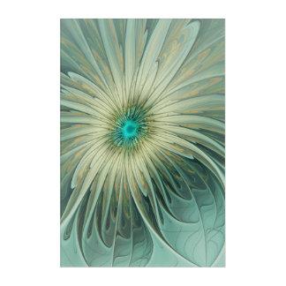 Art Mural En Acrylique Blé abstrait moderne de turquoise de fleur
