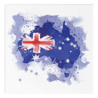 Art Mural En Acrylique Carte d'aquarelle de l'Australie