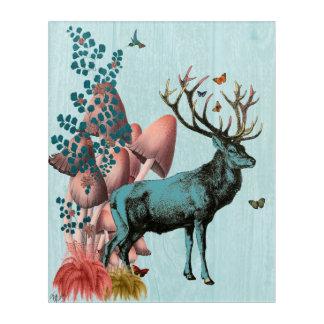 Art Mural En Acrylique Cerfs communs de turquoise dans la forêt de